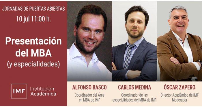Presentación del MBA (y especialidades)